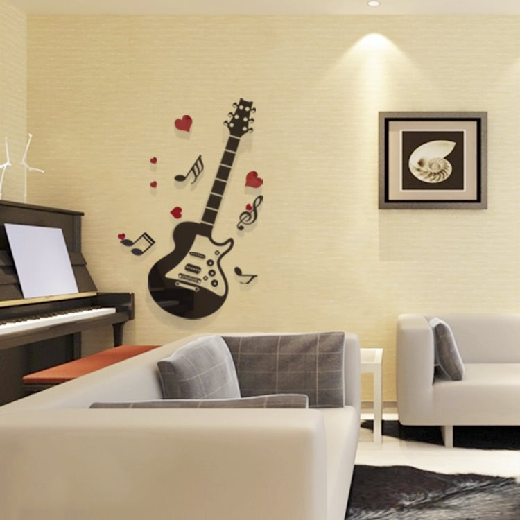 extra large guitar playing music 3d removable wall sticker large removable islamic muslim art islamvinyl decal wall