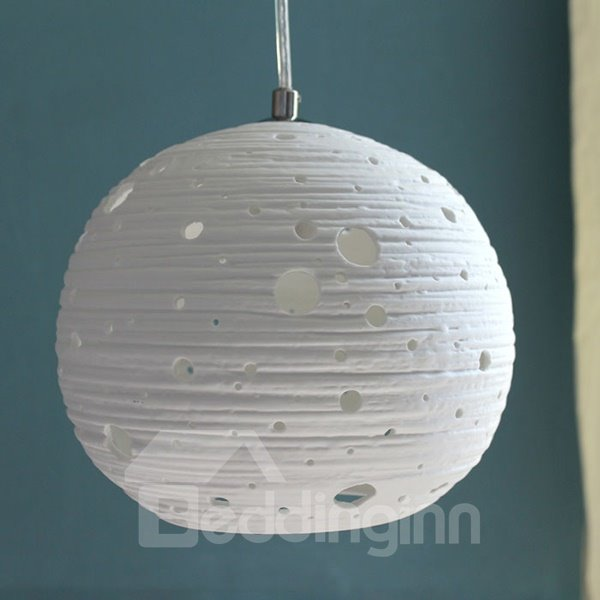 Modern Simple 1-Head Hollow Cut Ceramic Pendant Light