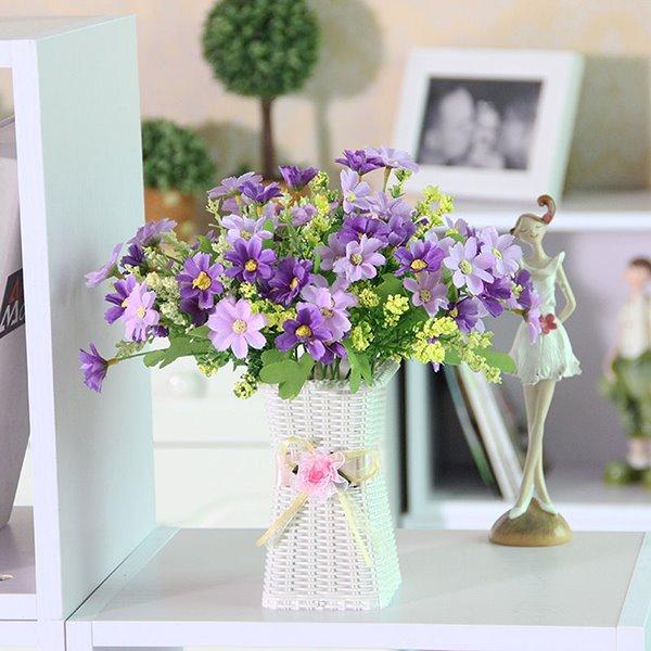 Pretty Artificial Flowers Daisy Table Flower Set