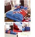 Fire Balloon Print America Dream Kids 4-Piece Duvet Cover Set