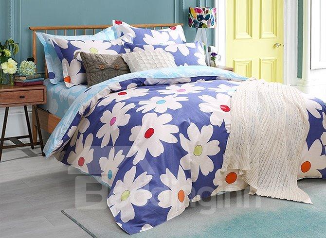 Beautiful Summer Flowers Pattern Kids Duvet Cover Set