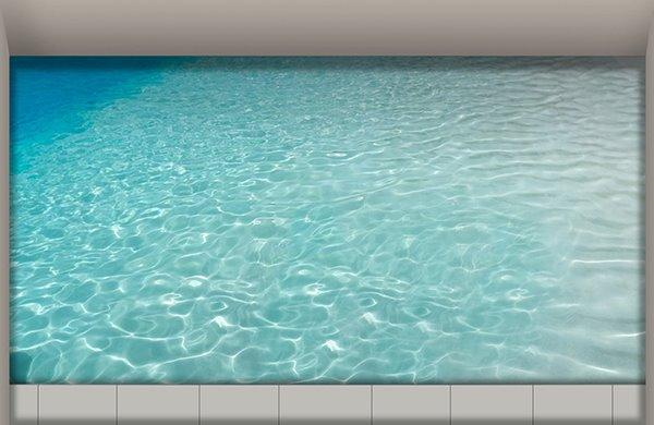 Dreamy Blue Glittering Water Slipping-Preventing Water-Proof Bathroom 3D Floor Sticker