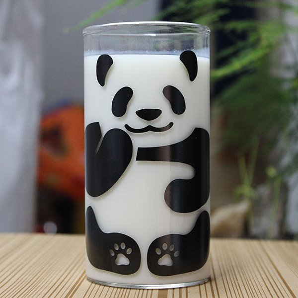 Cute Panda Pattern Glass Milk Cup Coffee Cup 11499625