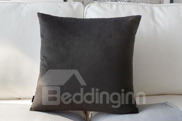 European Style Two White Horses Print Polyester Throw Pillow