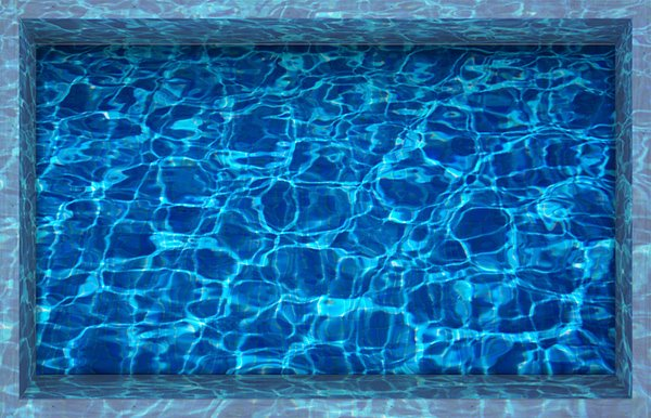 Glittering Gental Ripples of Water Slipping-Preventing Water-Proof Bathroom 3D Floor Sticker