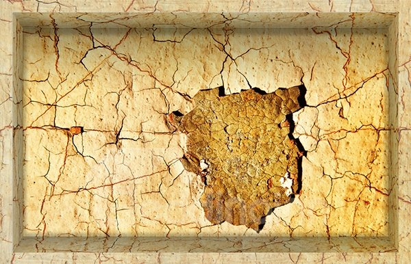 Creative Parched and  Cracked Ground Slipping-Preventing Water-Proof Bathroom 3D Floor Sticker
