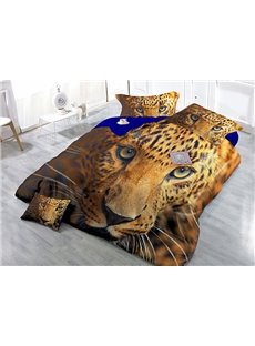 Dynamic Leopard Print Satin Drill 4-Piece Duvet Cover Sets