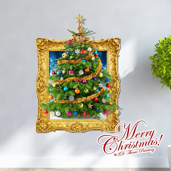 Festival Christmas Decoration Christmas Tree 3D Wall Sticker