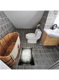 Old Used Mesh Container Slipping-Preventing Water-Proof Bathroom 3D Floor Sticker