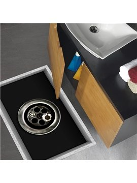Abstract Screws and Flowers Slipping-Preventing Water-Proof Bathroom 3D Floor Sticker