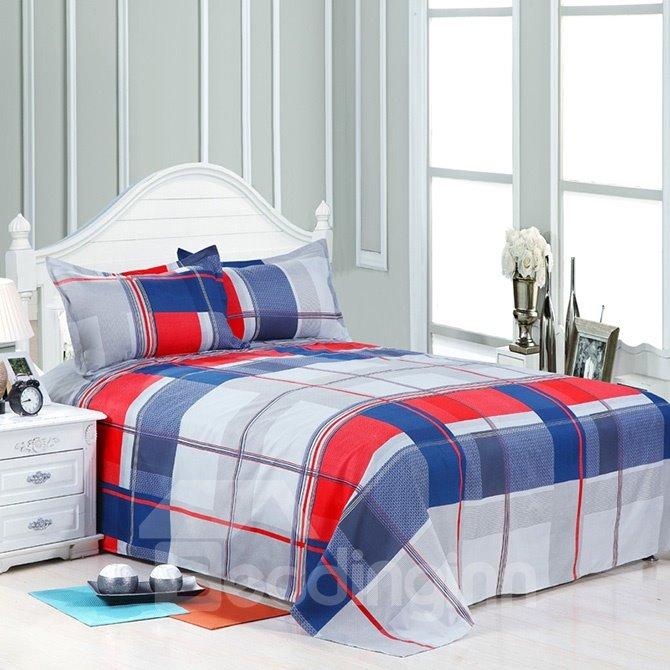 Classical Fashion Plaid Polyester 4-Piece Duvet Cover Sets