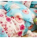 Refreshing Small Flowers Comfy Polyester 4-Piece Duvet Cover Sets