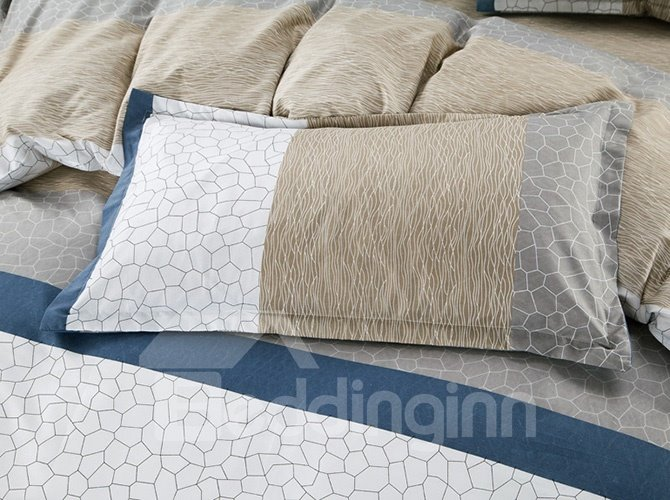 New Arrival Modern Simple Design 4-Piece Polyester Duvet Cover Sets