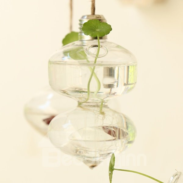 Unique Wall Decoration Bulb Design Glass Wall Flower Vase