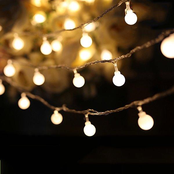 Unique Indoor String Lights : Decorative Festival 10-Meter 100 Round LED Indoor Outdoor LED String Lights - beddinginn.com
