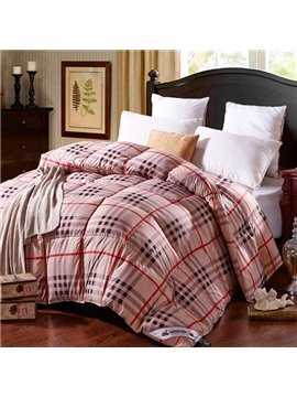 Modern Classical Plaid Design Winter Down Quilt