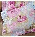 Beautiful Pink Peony Print Super Comfy Down Quilt
