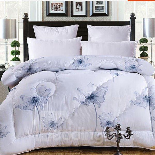 Super Thick Elegant Flying Flowers Design Winter Quilt