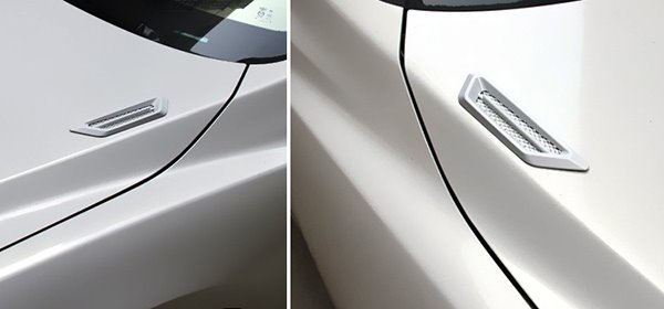 Fashional Design And Cool Bonnet Vent Shaped Car Sticker