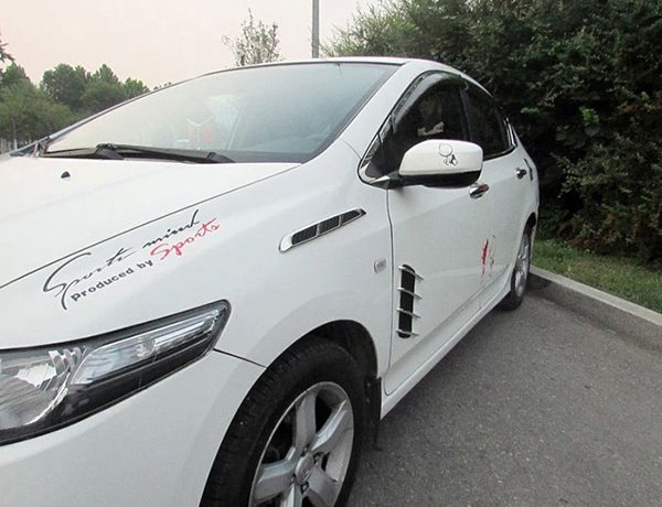 Special Designed Bonnet Vent Shaped Car Sticker