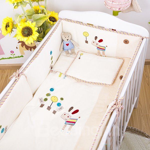 100% Cotton Simple Style Crib bedding Set
