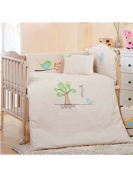 100% Natural Colored Cotton 7-Piece Crib bedding Set