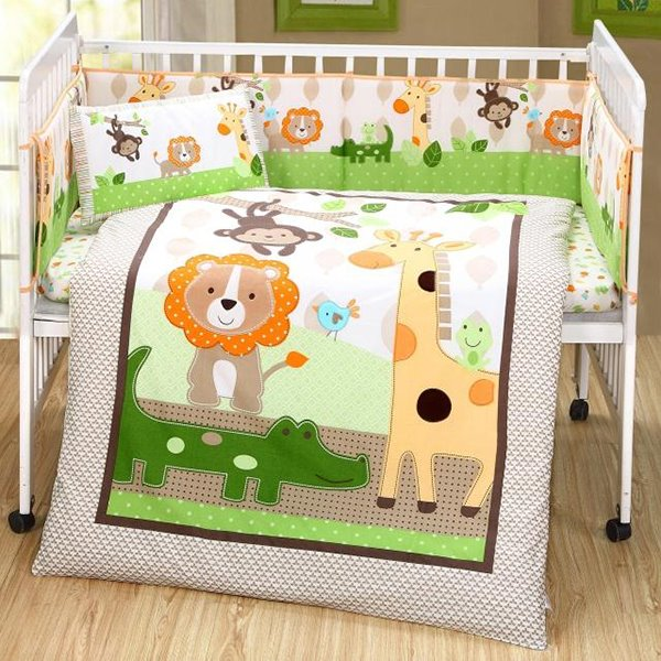 Animals Party in The Forest theme Crib bedding Set