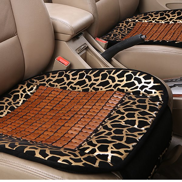 Special Designed Bamboo Chips Leopard Patterned Car Seat Mat
