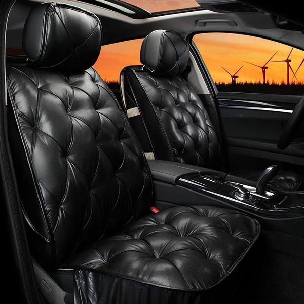 Elegant Super Comfortable Rhombus Patterned Pure Colored Car Seat Cover