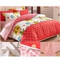 Giraffe and Polka Dot Pattern Kids 3-Piece Duvet Cover Set