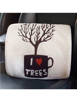 Concise Environmenal Friendly Patterned Linen Car Pillow
