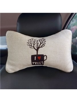 Concise Environmenal Friendly Patterned Car Neckrest Pillow