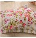 Pastoral Red Flowers Design 3-Piece Cotton Bed in a Bag