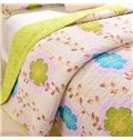 Colorful Small Flowers Design Cotton 3-Piece Bed in a Bag