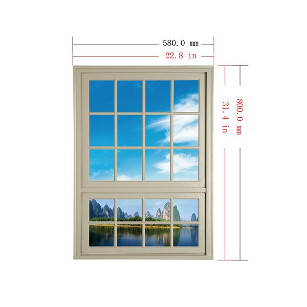 Natural Scenery Blue Sky and Forest in the Distance Window View Removable 3D Wall Stickers