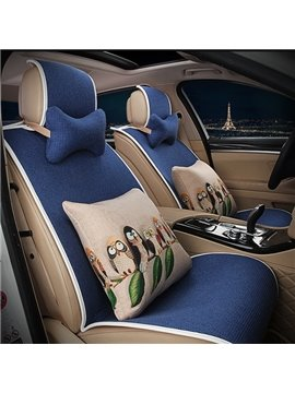 Concise Designed with Animal Cushions Car Seat Cover Set