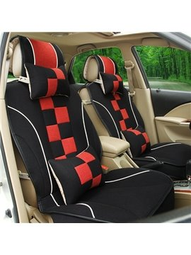 Sport Designed Dual Colored Lattice Car Seat Cover