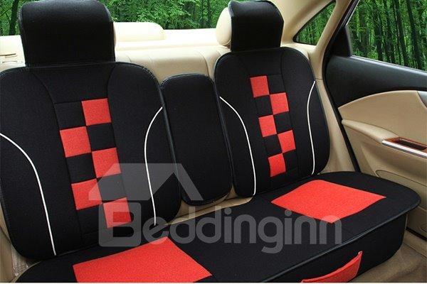 Sport Designed Dual Colored Lattice Car Seat Cover