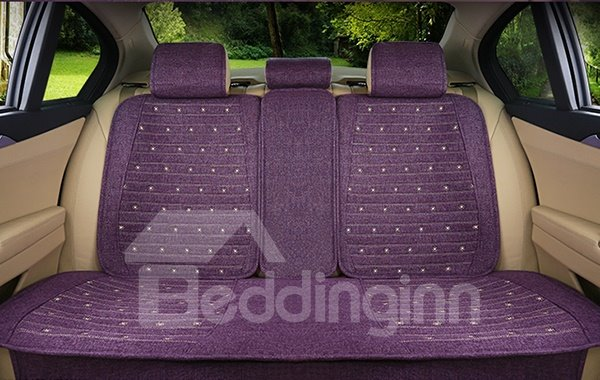 Beautiful Pure Colored with Cure Dots Linen Car Seat Cover
