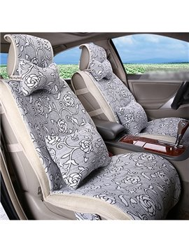 Outstanding Beautiful Elegent White Floral Patterned Car Seat Cover