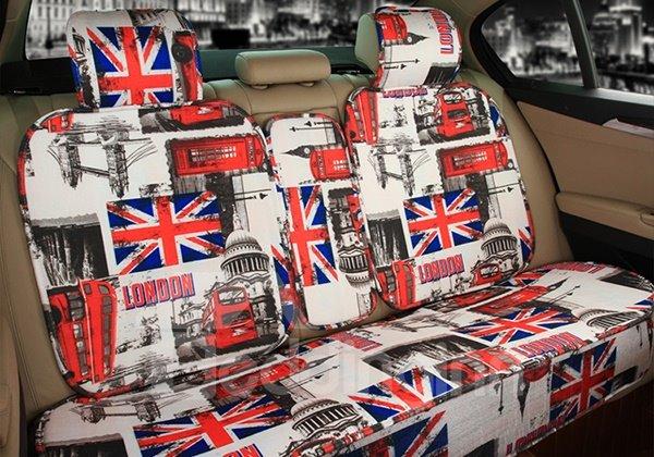 Modern Designed England Impression Car Seat Cover