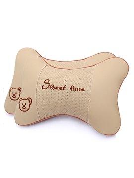 Comfortable Ventilate Pure Color Car Neckrest Pillow