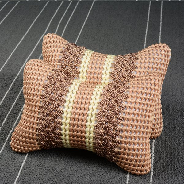 Exquisite Comfortable Cotton Material Car Neckrest Pillow