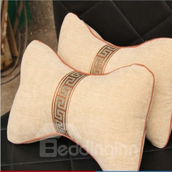 Concise Elegant Single Colored Bamboo Charcoal Neckrest Pillow