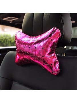 Shiny Pure Colored Premium Car Neckrest Pillow