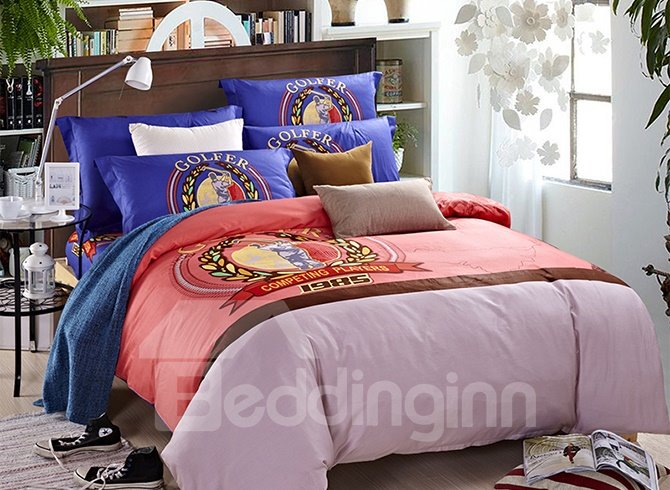 Competing Player Print 4-Piece Duvet Cover Sets