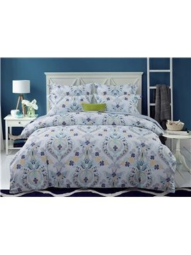 Artistic Jacquard Style 4-Piece Cotton Duvet Cover Sets