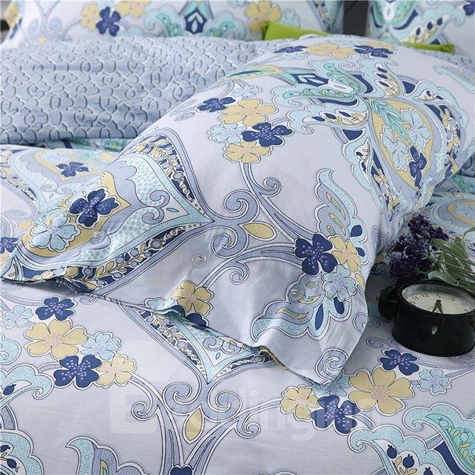 Artistic Jacquard Style 4-Piece Cotton Duvet Cover Sets