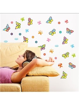 Colorful Cartoon Butterfly Nursery Bedroom Removable Wall Sticker