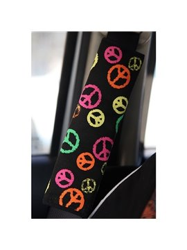 Meaningful Anti-War Symbolic Pattern Car Seat Belt Cover